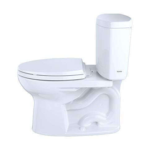 Two piece flushing toilet