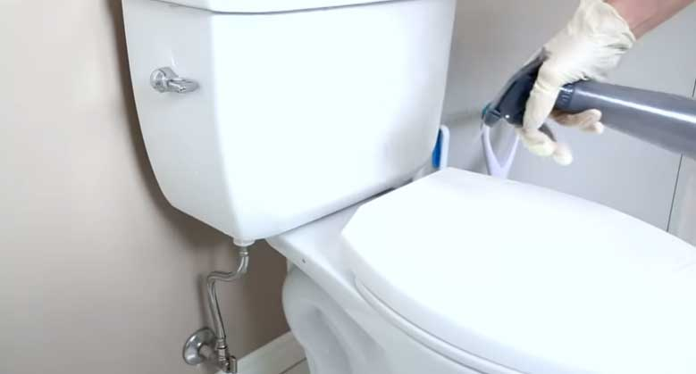 Clean the toilet seat