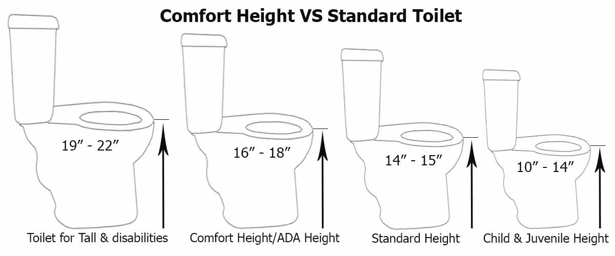 Comfort Height Vs Standard Toilet Which Type Of Toilet Is
